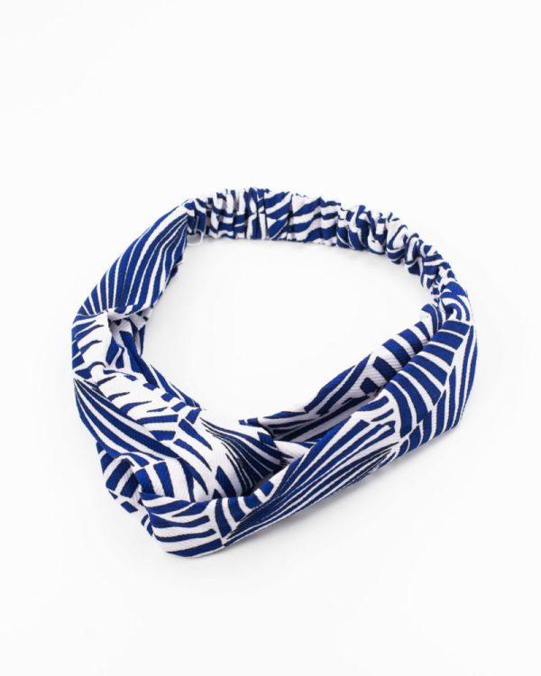 bandeau femme rayé bleu et blanc