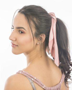 chouchou foulard rose pour femme