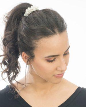 élastique à cheveux femme avec des perles