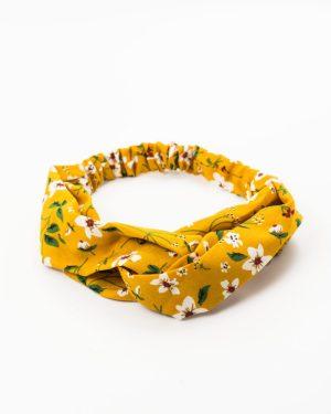 heaband jaune fleurs blanches