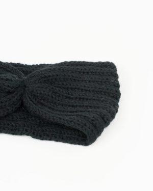 headband femme hiver noir