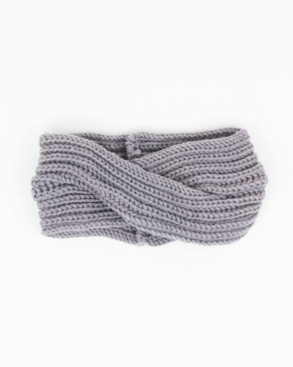 headband hiver gris clair