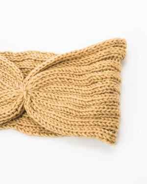 headband hiver jaune