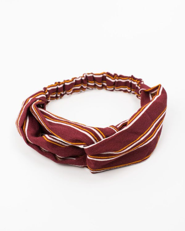 Headband rouge rayures