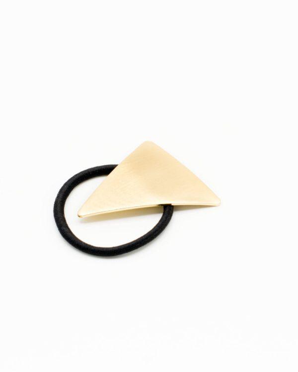 élastique cheveux triangle doré