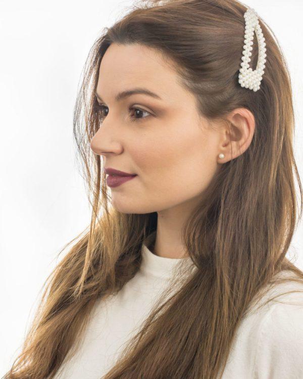 barrette cheveux à perles