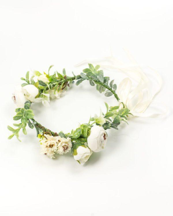 Couronnes de fleurs blanches mariage