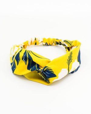 Bandeau cheveux femme jaune végétal