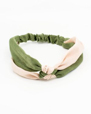 bandeau cheveux pour femme avec noeud rose vert