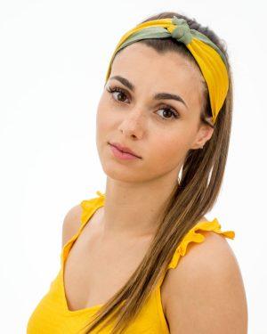 bandeau femme jaune et vert