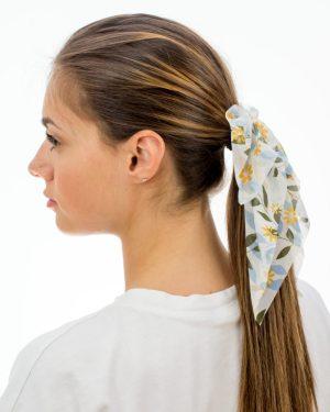 noeud dans les cheveux bleu et vert pour femme