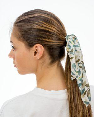 noeud pour cheveux femme vert
