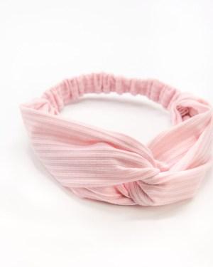 bandeau cheveux rose pour femme à rayures