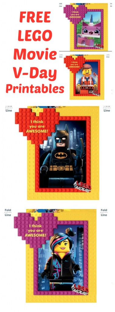 Free Valentines Day Printable From The LEGO Movie Lady
