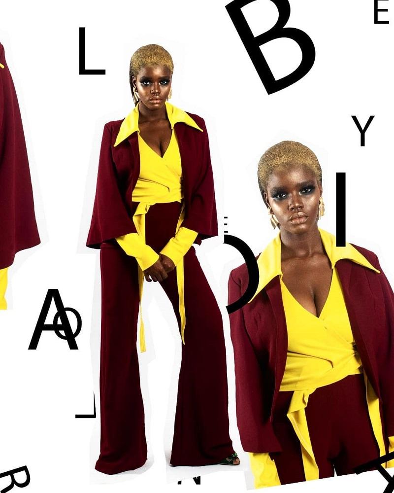 LadyBeellionaire- zee 3 piece UNBOXED PF19 collection Look 1