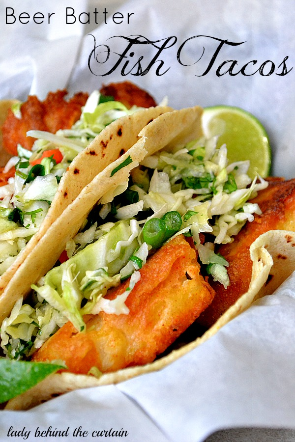 Lady Behind The Curtain - Beer Batter Fish Tacos