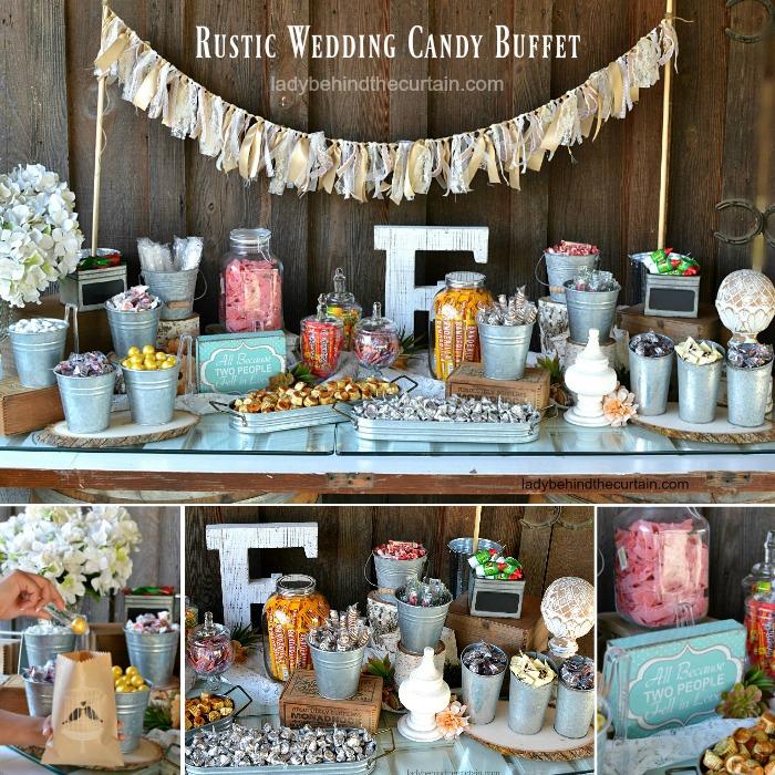 Rustic Candy Buffet Ideas