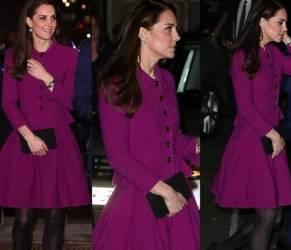 Kate Middleton impeccabile: abito fucsia e tacchi FOTO