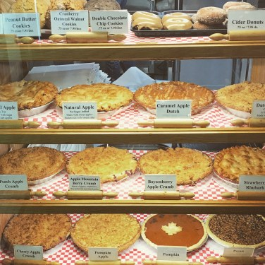 Pies! Pies! Pies! Display case at Julian Pie Company - September 2017. | Photo credit: Krista