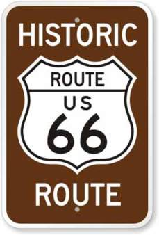 Example of a Historic Route 66 sign.