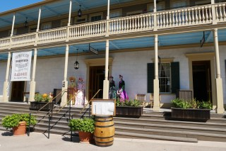 The Cosmopolitan Hotel & Restaurant was built in 1827 as a state-of-the-art adobe home. Today, it has been restored to its 1870s glory and features Day of the Dead décor each year. | Photo credit: Krista
