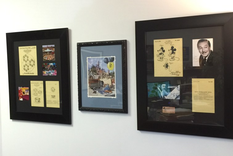 Disney Patent Art on display in my office. | Photo credit: Krista