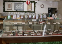 Many types of fudge and other candies for sale in the center room of Logan's Candies. | Photo credit: Krista