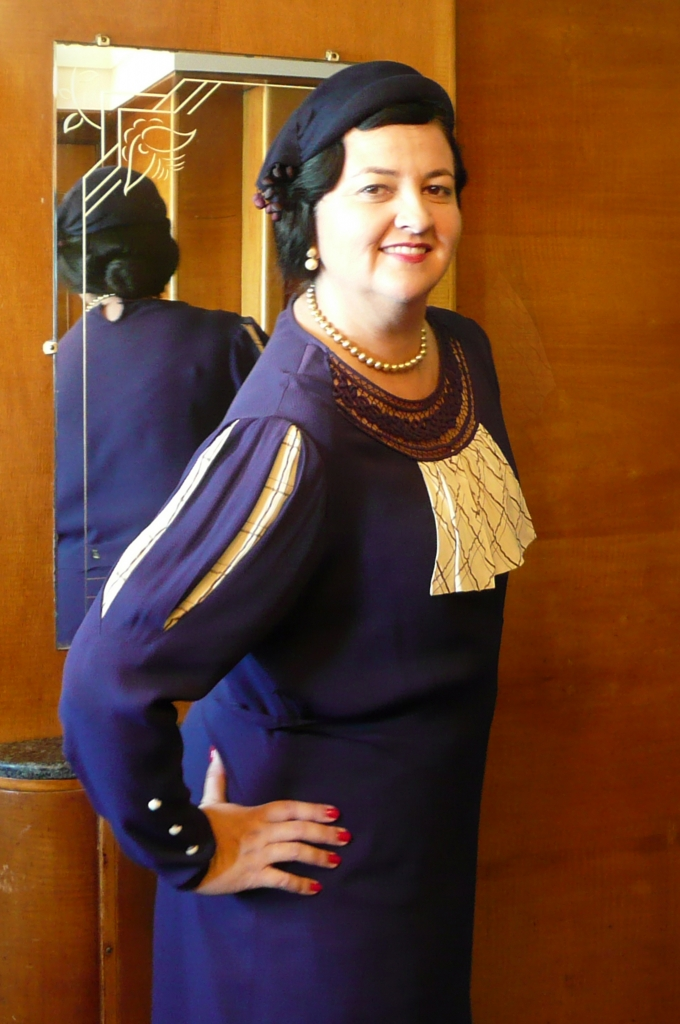 Queen Mary Art Deco Festival vintage dress