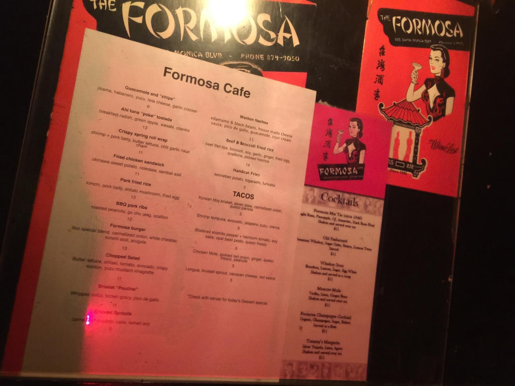 Lady by Choice - Formosa Cafe Interior and Food