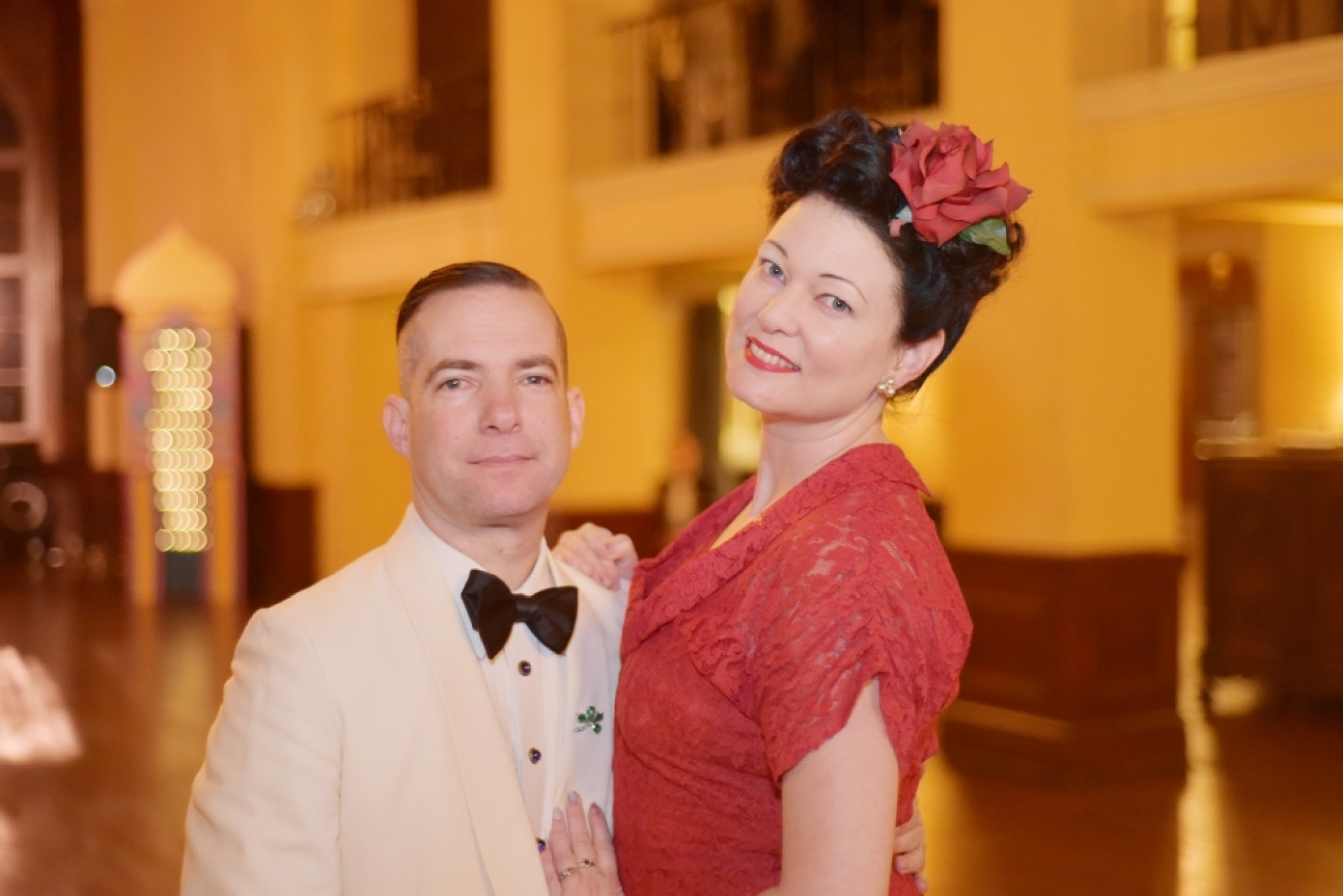 Vintage dressed couple at the Ebell