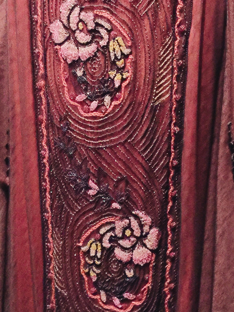 Gown detail from Dressing Downton exhibit at Lady by Choice blog