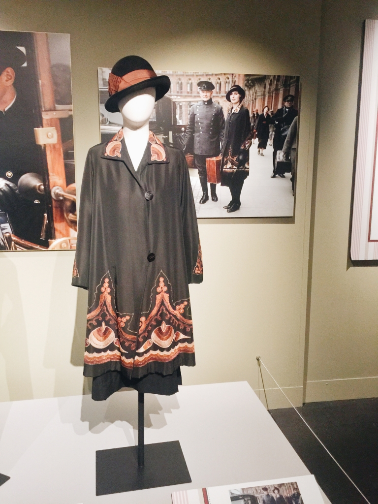 Coat from Dressing Downton exhibit at Lady by Choice blog