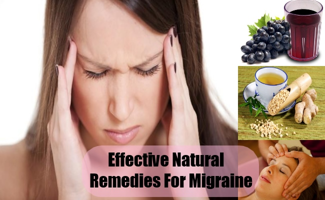 Effective Natural Remedies For Migraine