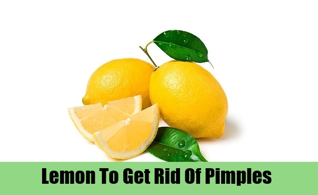 Lemon To Get Rid Of Pimples