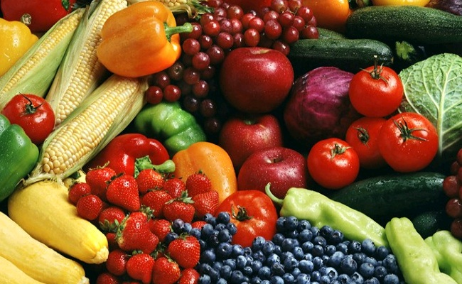 Colored Fruits and Vegetables