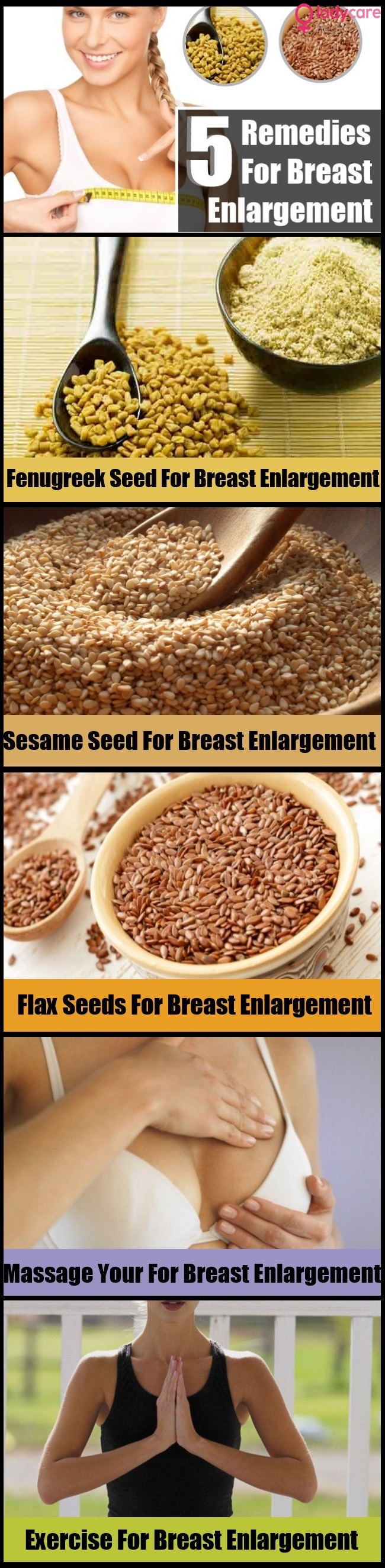 5 Unique Home Remedies For Breast Enlargement
