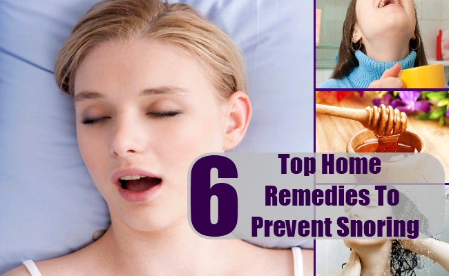 Home Remedies To Prevent Snoring