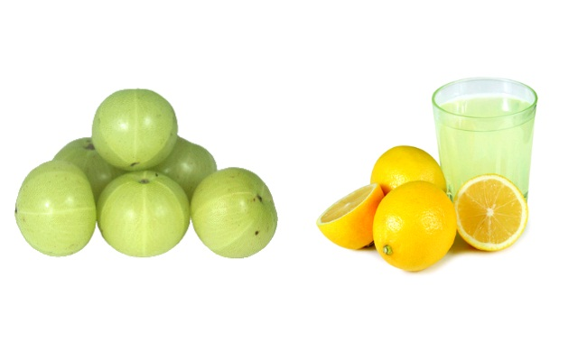 Indian Gooseberry And Lemon Juice