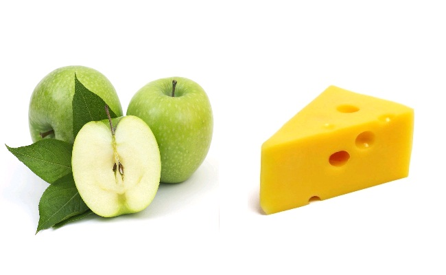 Green Apple With Cheese
