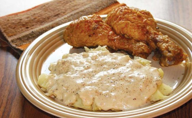 Baked Fried Chicken & Gravy