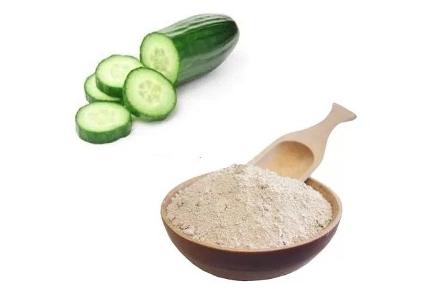Cucumber Based Fullers Earth Mask For Acne