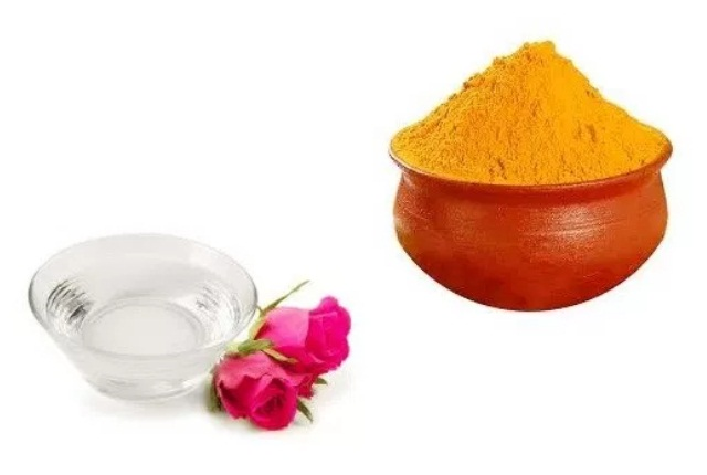 Turmeric, Distilled Water And Rose Water Liquid Pack
