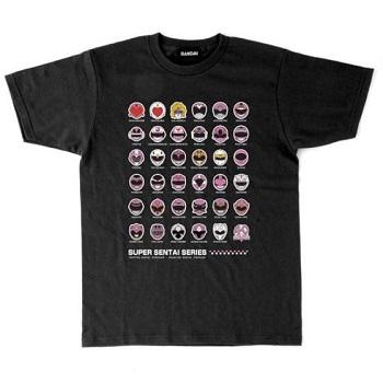 スーパー戦隊シリーズ40作品記念 歴代ピンク&ホワイト ヒロイン フェイスTシャツ