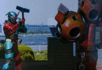 『仮面ライダービルド』のトライアルフォーム ラビット掃除機フォーム
