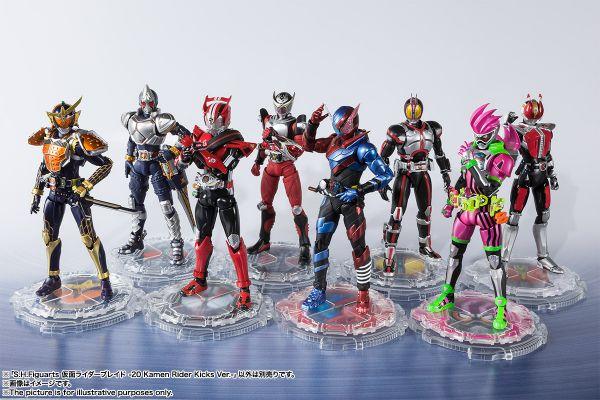 S.H.Figuarts 平成仮面ライダーにライドウォッチ型台座が付属する「20 Kamen Rider Kicks Ver.」8点が予約開始!