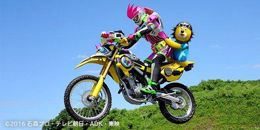 ドコモCMに仮面ライダーポッピーが登場!キャラクターがエグゼイドとレーザーに乗り『仮面ライダージオウ』出演を楽しみに!