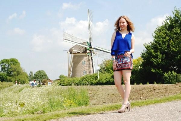 Delfts blue skirt .