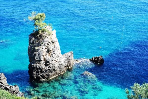 Beautiful views on island of Greece Corfu
