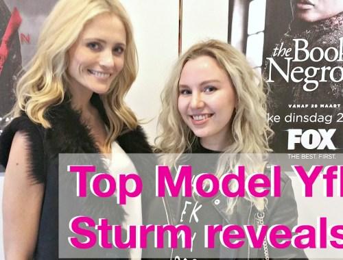 top model yfke sturm reveals