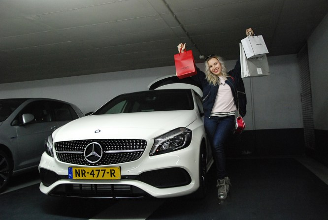 fashionable drive with mercedes benz